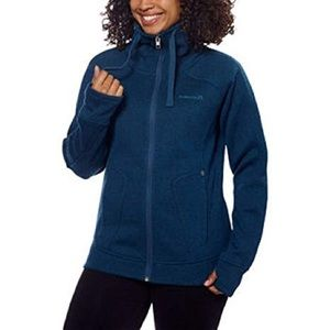 Avalanche Teal Blue Knit Fleece Zip Jacket